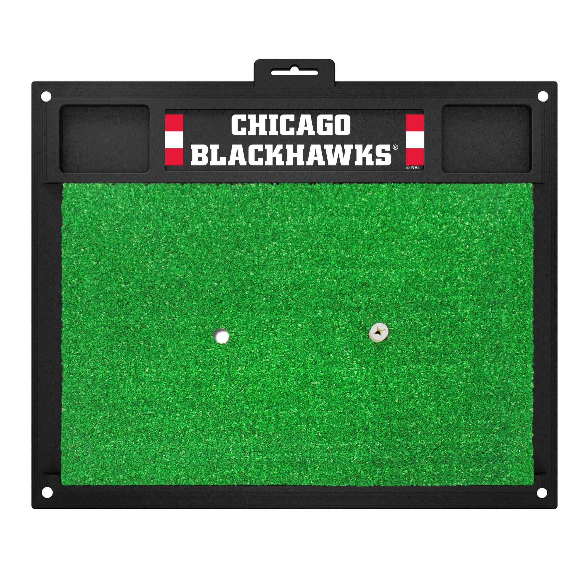 "NHL - Chicago Blackhawks Golf Hitting Mat 20"" x 17"""