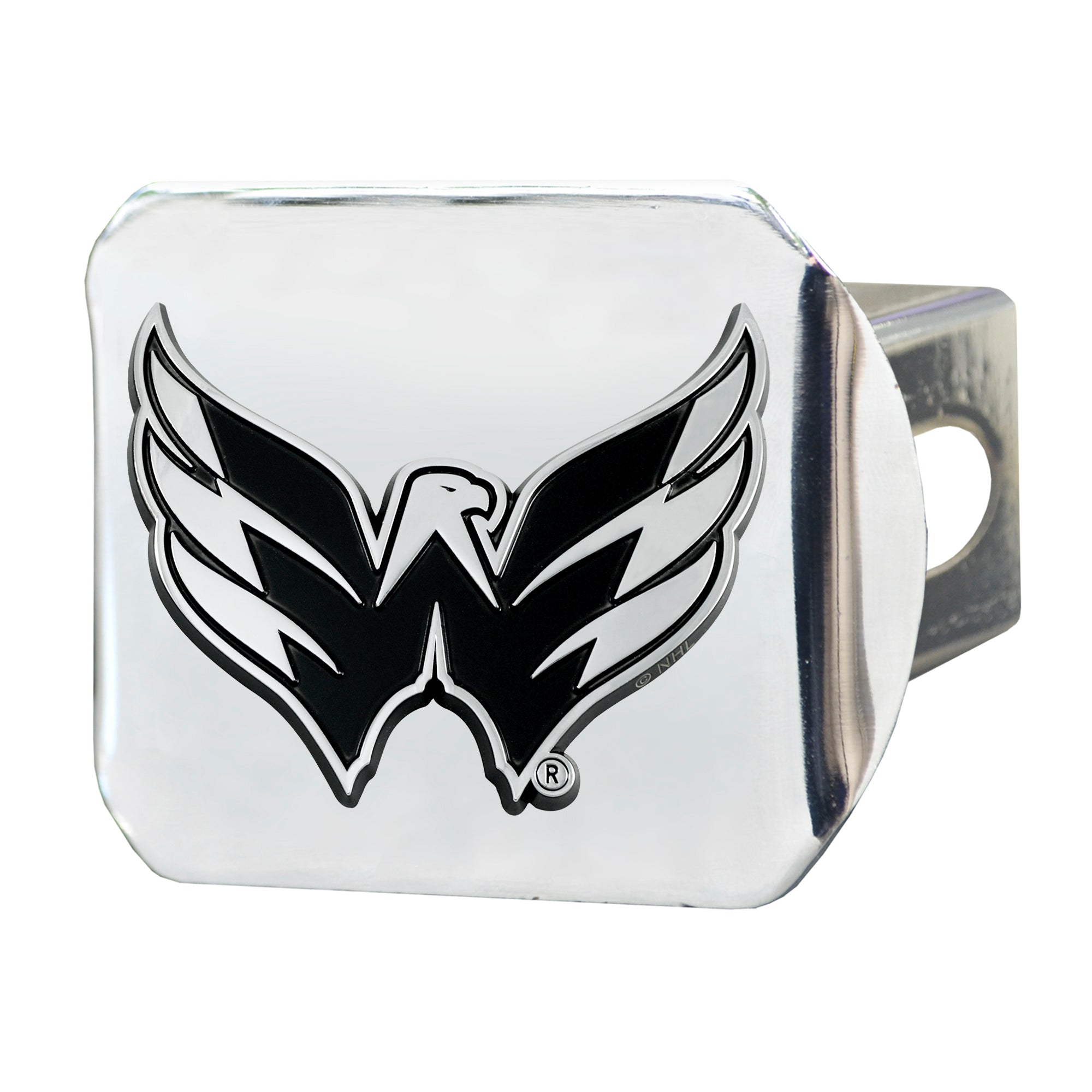 "NHL - Washington Capitals Hitch Cover - Chrome on Chrome 3.4""x4"""