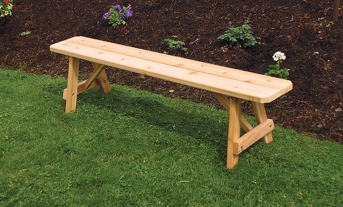 Outdoor Garden Furniture Traditional Bench Only Made In USA
