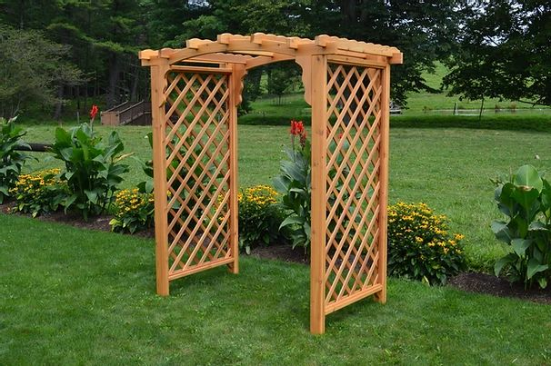 6 Ft Jamesport Handcrafted Patio Porch Outdoor Garden Cedar Arbor