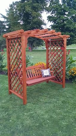 6 Ft Jamesport Handcrafted Patio Porch Outdoor Garden Cedar Arbor & Swing