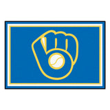 "MLB - Milwaukee Brewers 5x8 Rug 59.5""x88"""