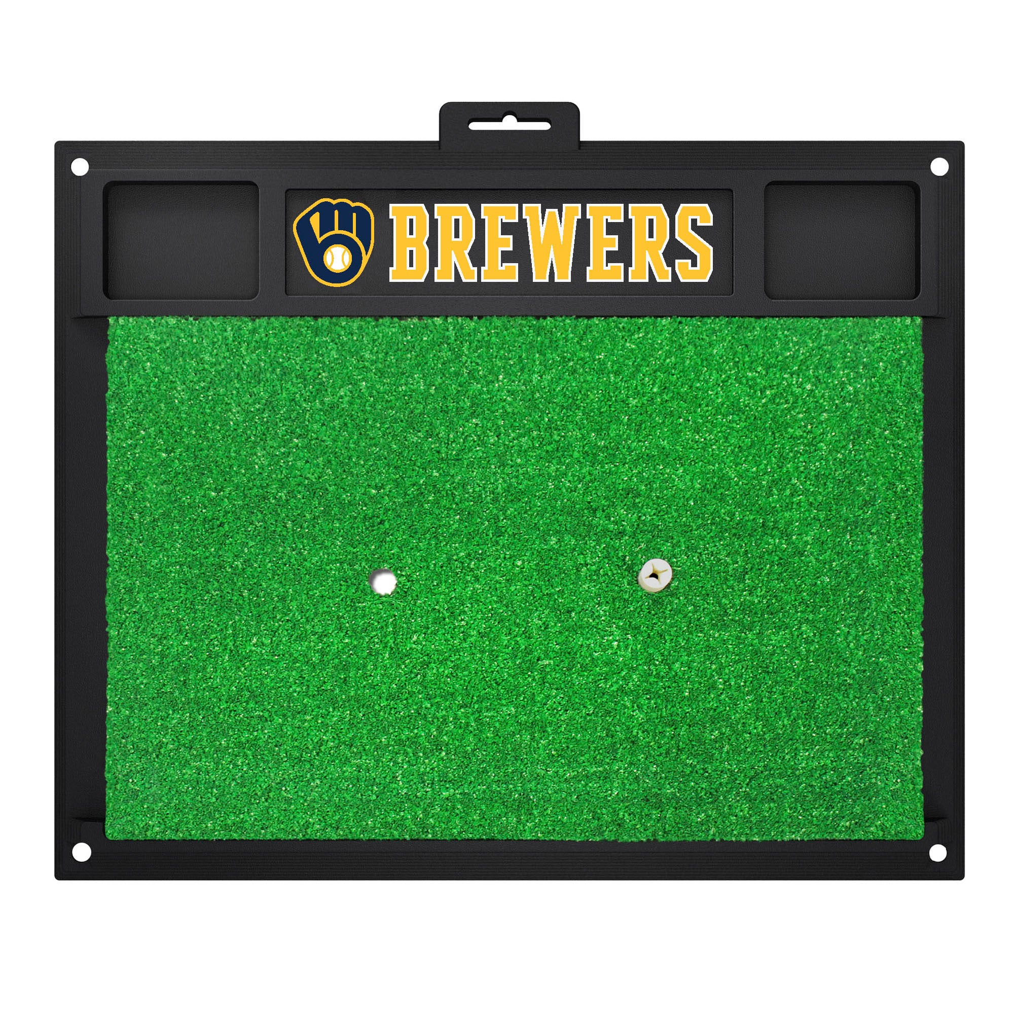 "MLB - Milwaukee Brewers Golf Hitting Mat 20"" x 17"""