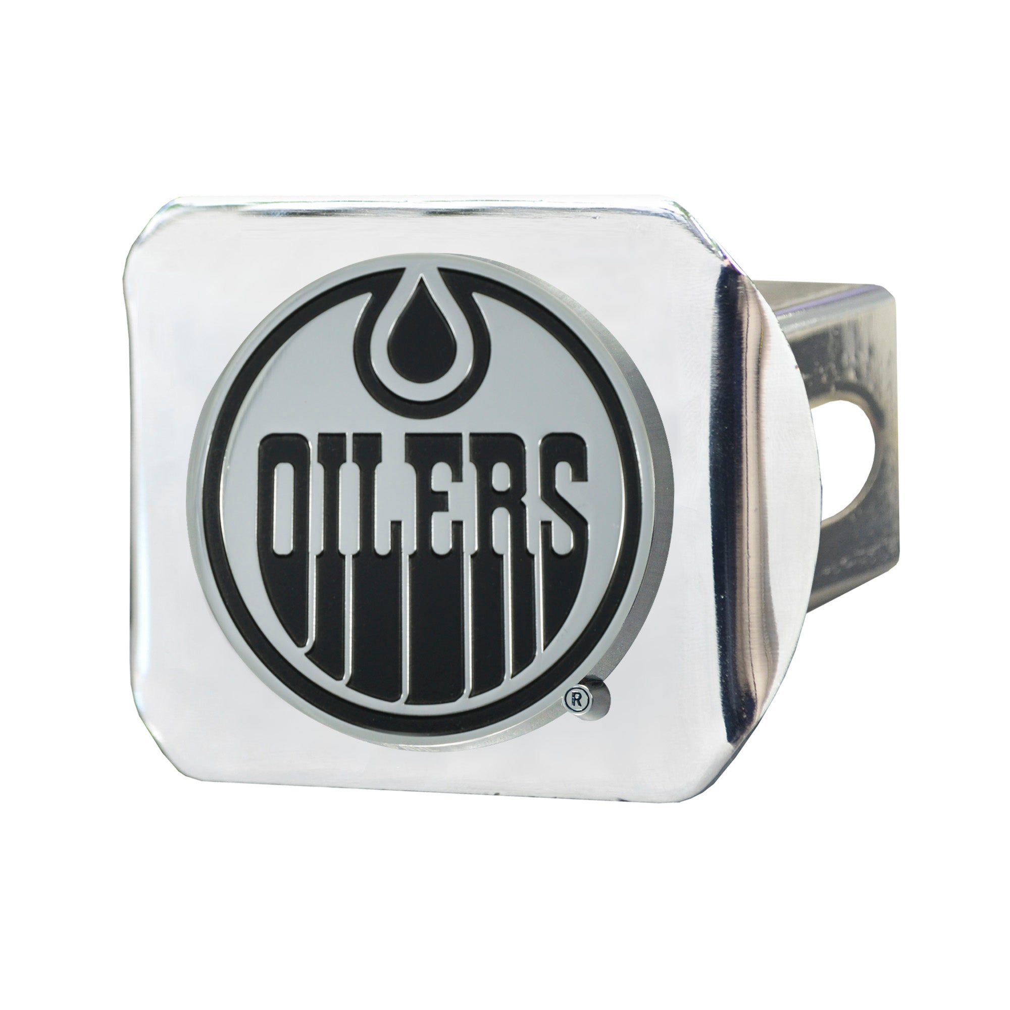 "NHL - Edmonton Oilers Hitch Cover - Chrome on Chrome 3.4""x4"""