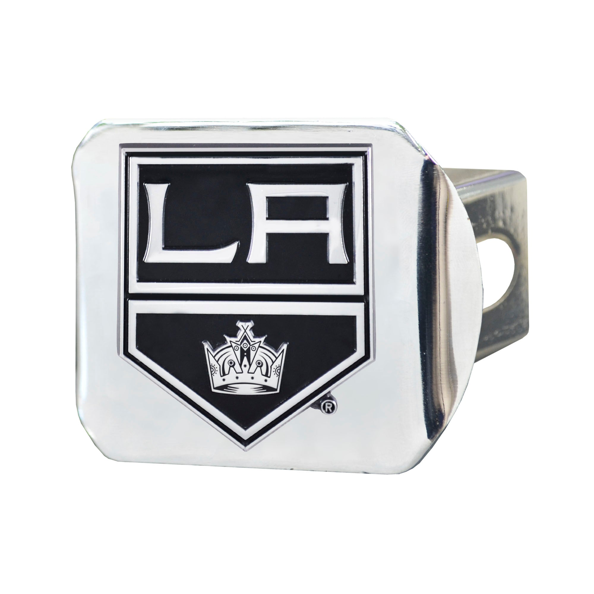 "NHL - Los Angeles Kings Hitch Cover - Chrome on Chrome 3.4""x4"""