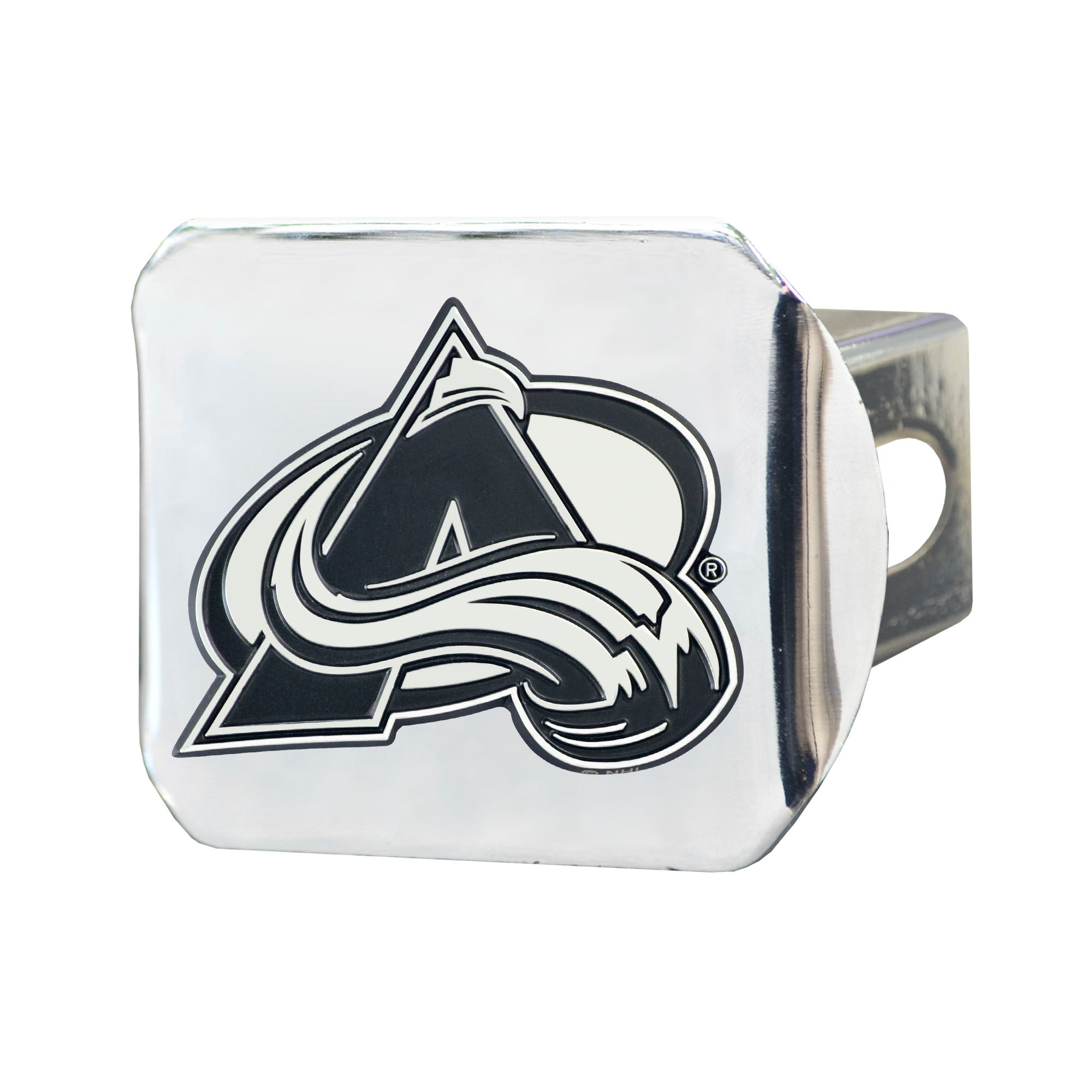 "NHL - Colorado Avalanche Hitch Cover - Chrome on Chrome 3.4""x4"""