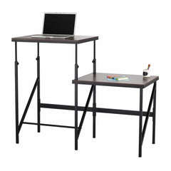 bedinhome - 1956BH Elevate™ Office Work Durable Beech Top & Cream Steel Legs Bi-Level Desk With Adjustable Footrest - Safco - Bi-Level Desk