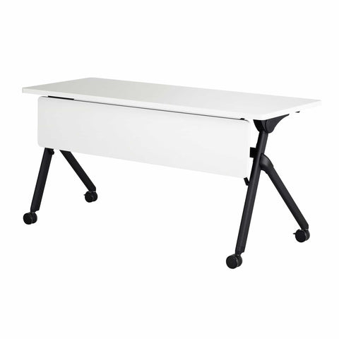 bedinhome - 1997DWBL Tango™  72 Inch x 24 Inch Dual-Wheel Casters White Top Black Base Rectangle Shape Nesting Table with Fold Down Top - Safco - Nesting Table