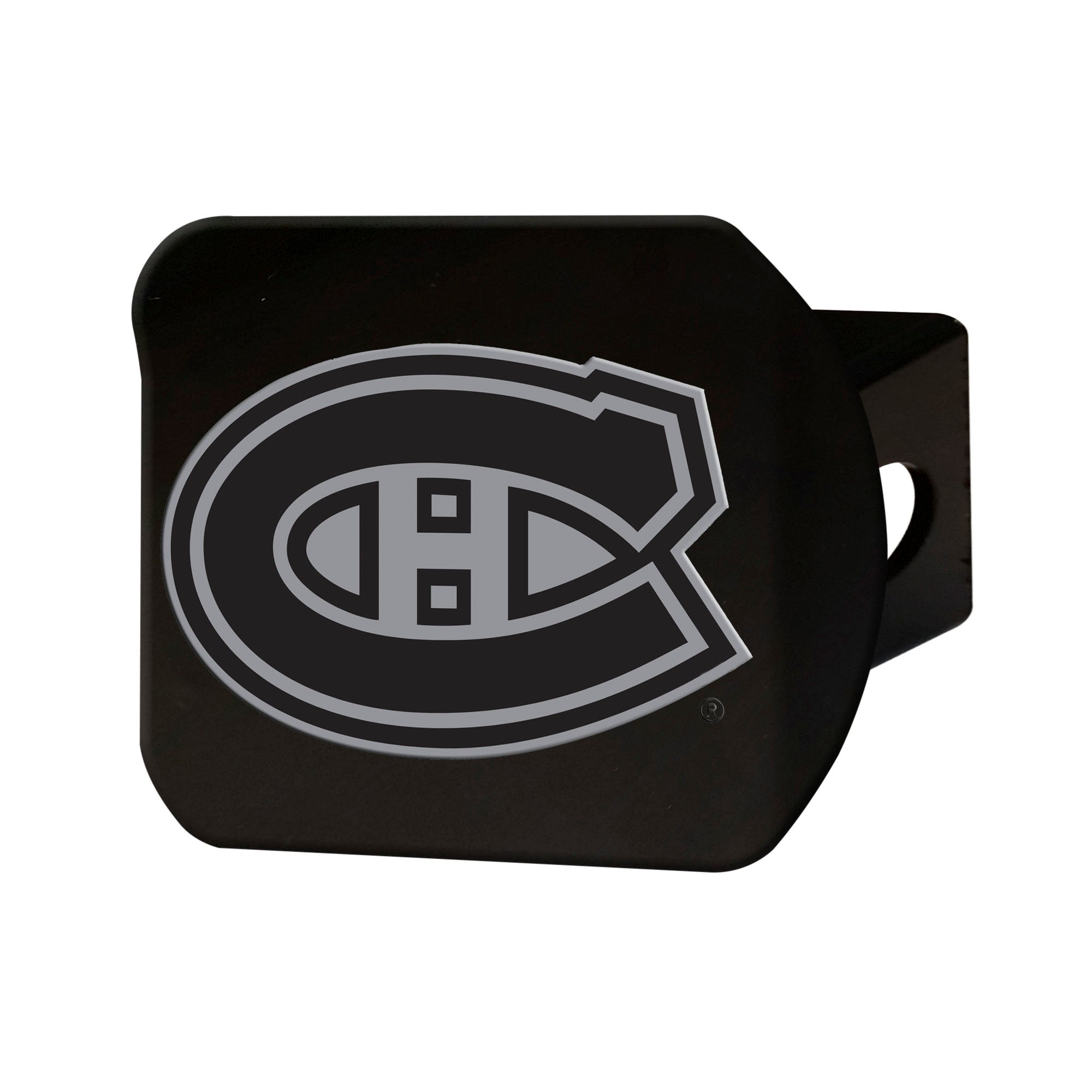"NHL - Montreal Canadiens Hitch Cover - Chrome on Black 3.4""x4"""