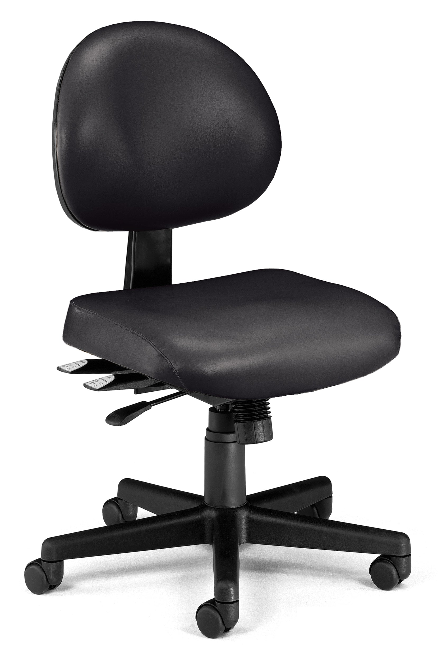 Ofminc Ergonomic Multi-Adjustable Vinyl Armless Task Chair
