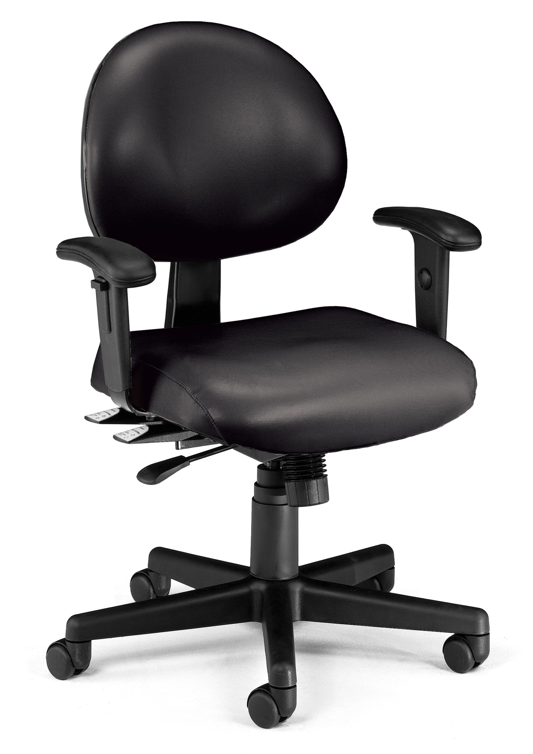 Ofminc Ergonomic Multi-Adjustable Vinyl Task Arms Chair