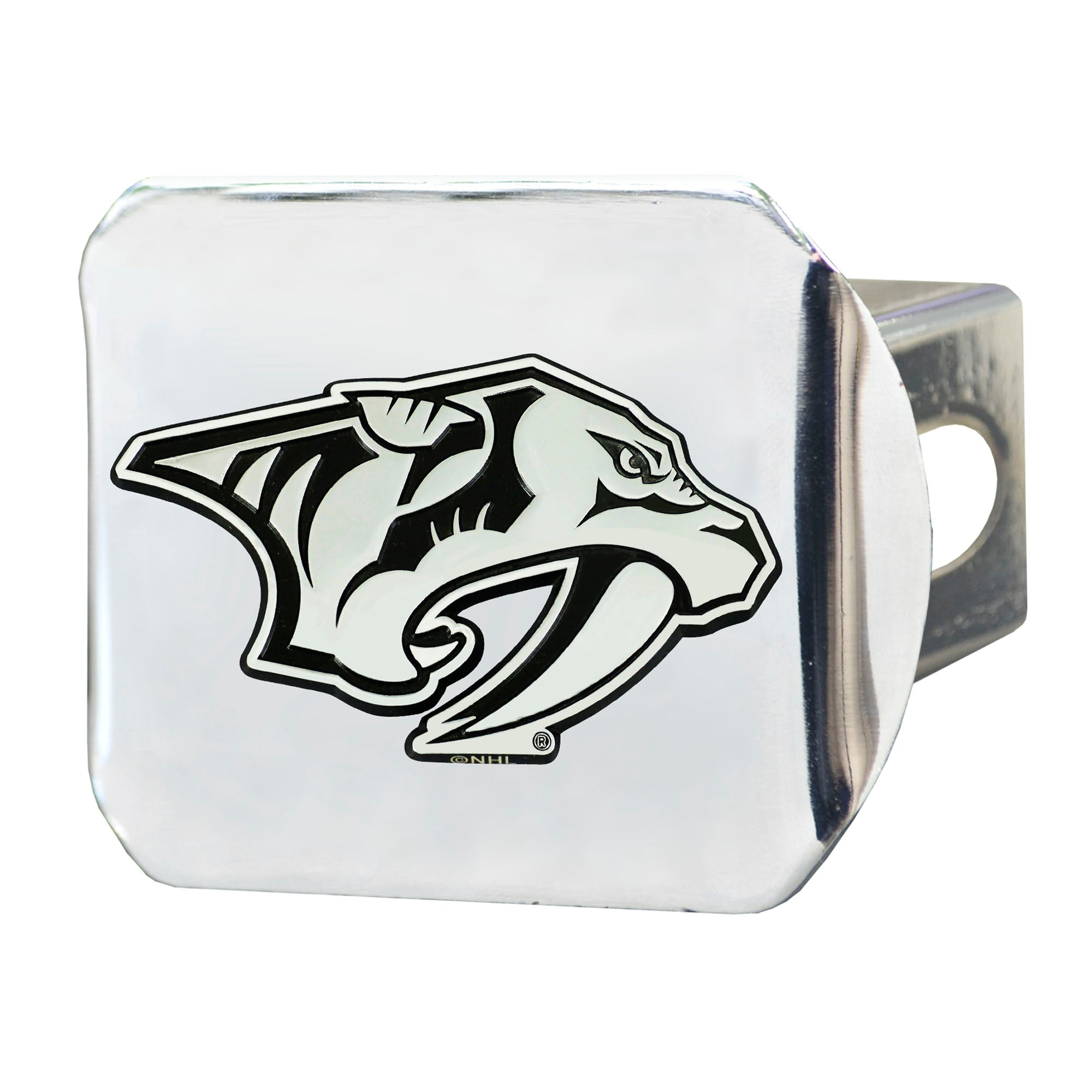 "NHL - Nashville Predators Hitch Cover - Chrome on Chrome 3.4""x4"""