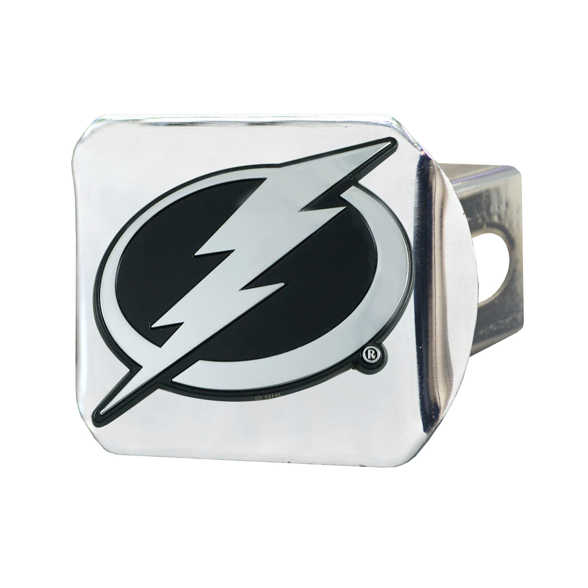 "NHL - Tampa Bay Lightning Hitch Cover - Chrome on Chrome 3.4""x4"""