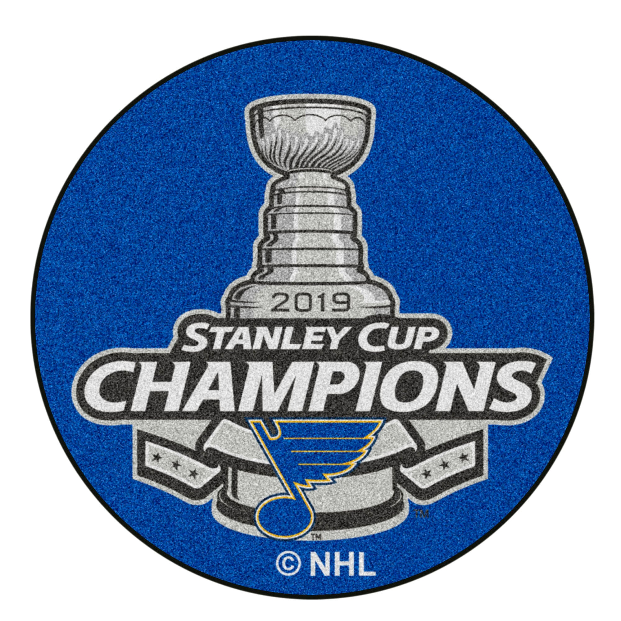 NHL - St. Louis Blues 2019 Stanley Cup Champions Puck Mat