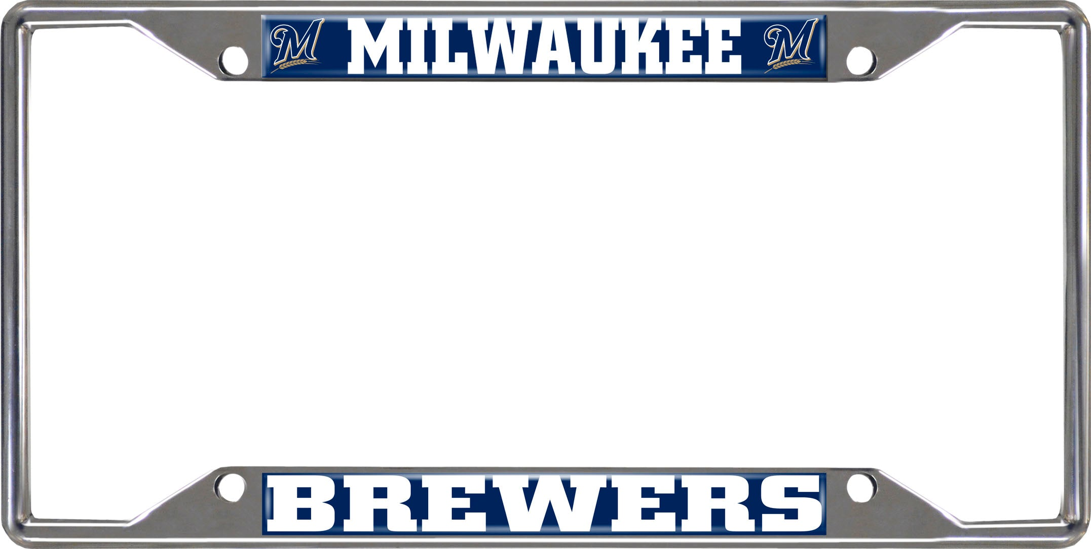 "MLB - Milwaukee Brewers License Plate Frame 6.25""x12.25"""