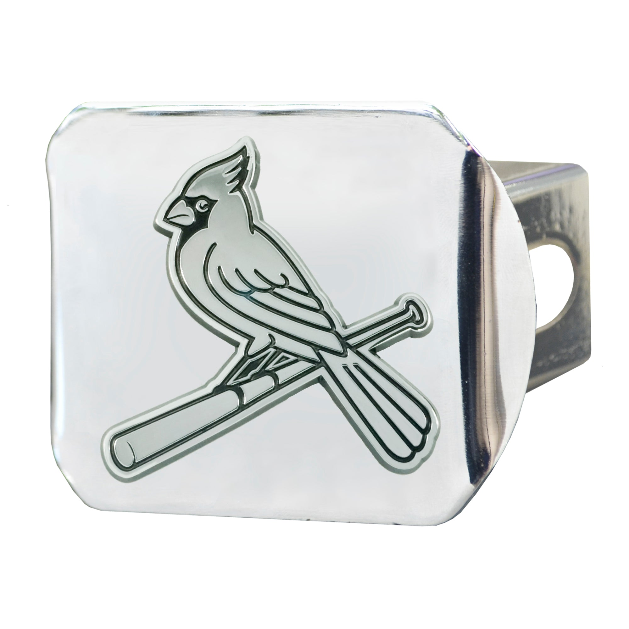 "MLB - St. Louis Cardinals Hitch Cover - Chrome 3.4""x4"""