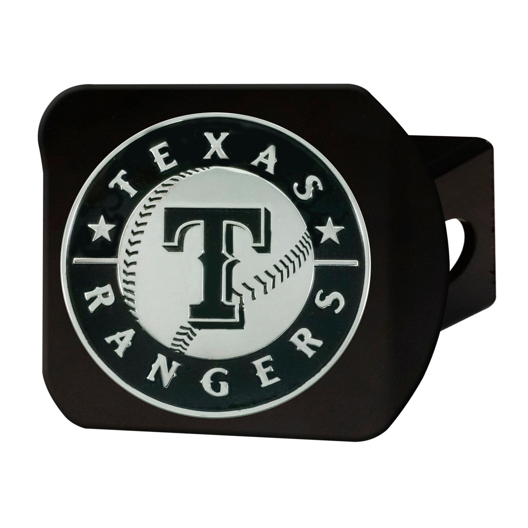 "MLB - Texas Rangers Hitch Cover - Black 3.4""x4"""