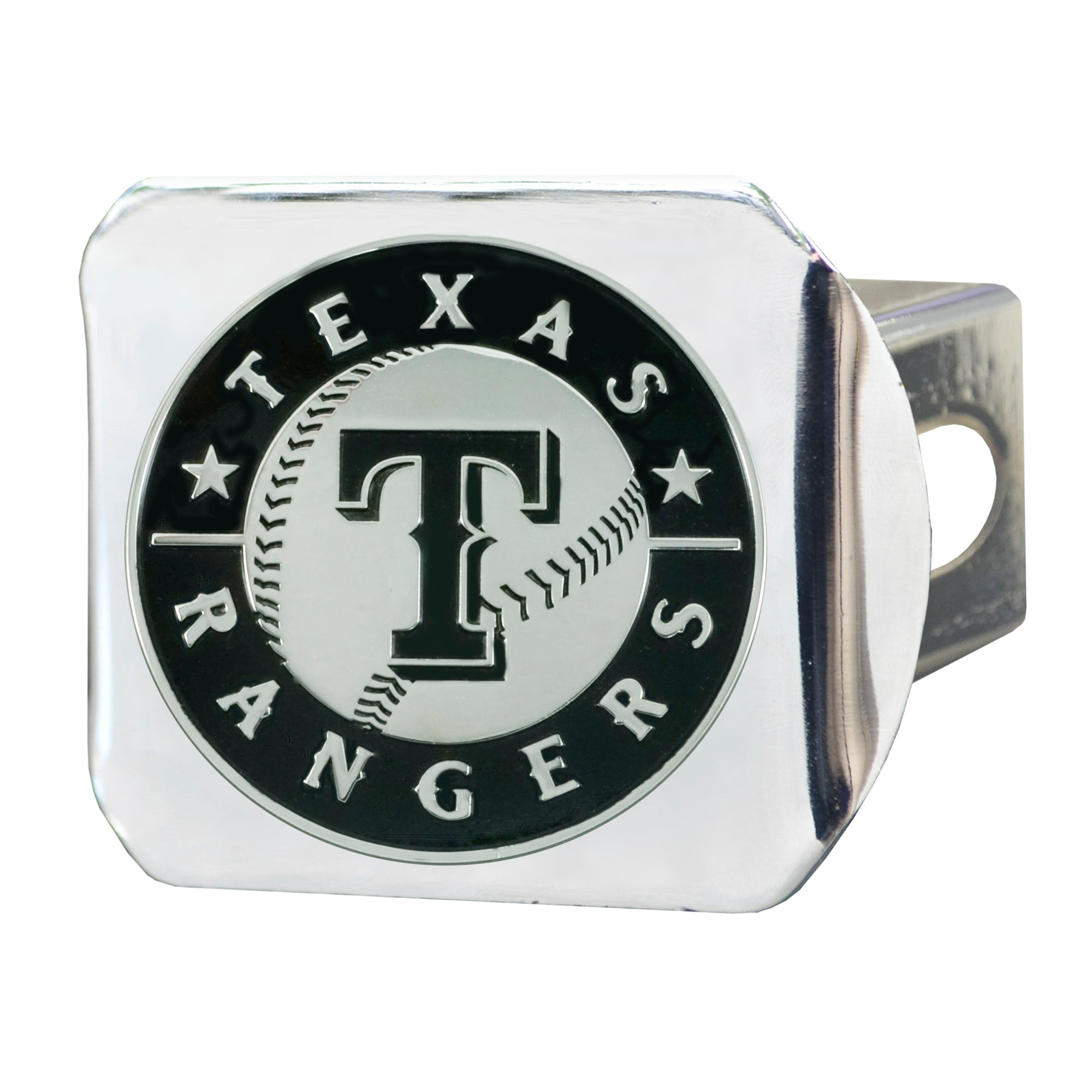 "MLB - Texas Rangers Hitch Cover - Chrome 3.4""x4"""