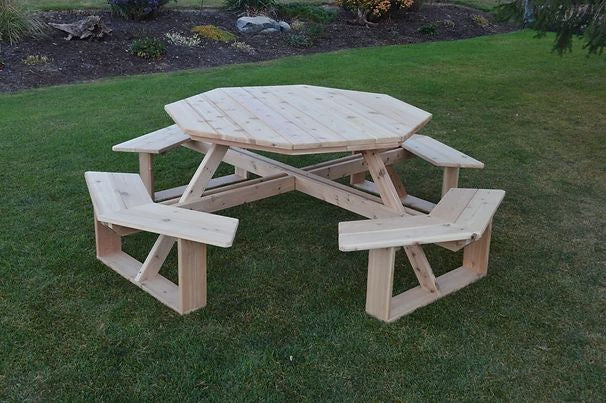 Outdoor Garden Furniture 54 Inch Octagon Walk-In Table