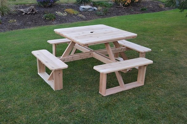 Outdoor Garden Furniture 44 Inch Square Walk-In Table