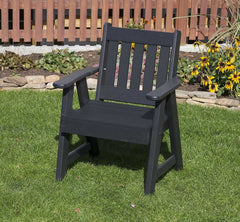 2 Ft AMISH Handcrafted POLY LUMBER MISSION EVERLASTING Garden Chair
