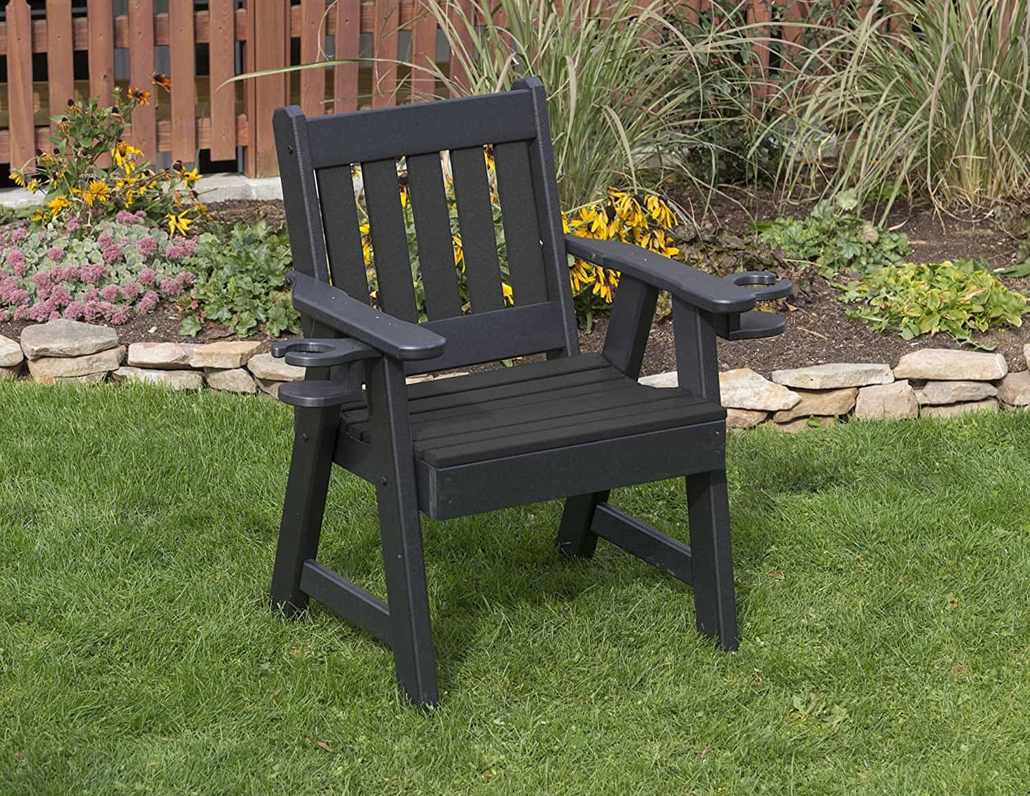 POLY LUMBER MISSION PolyTuf HDPE AMISH CRAFTED 2 FT Cupholder Chair