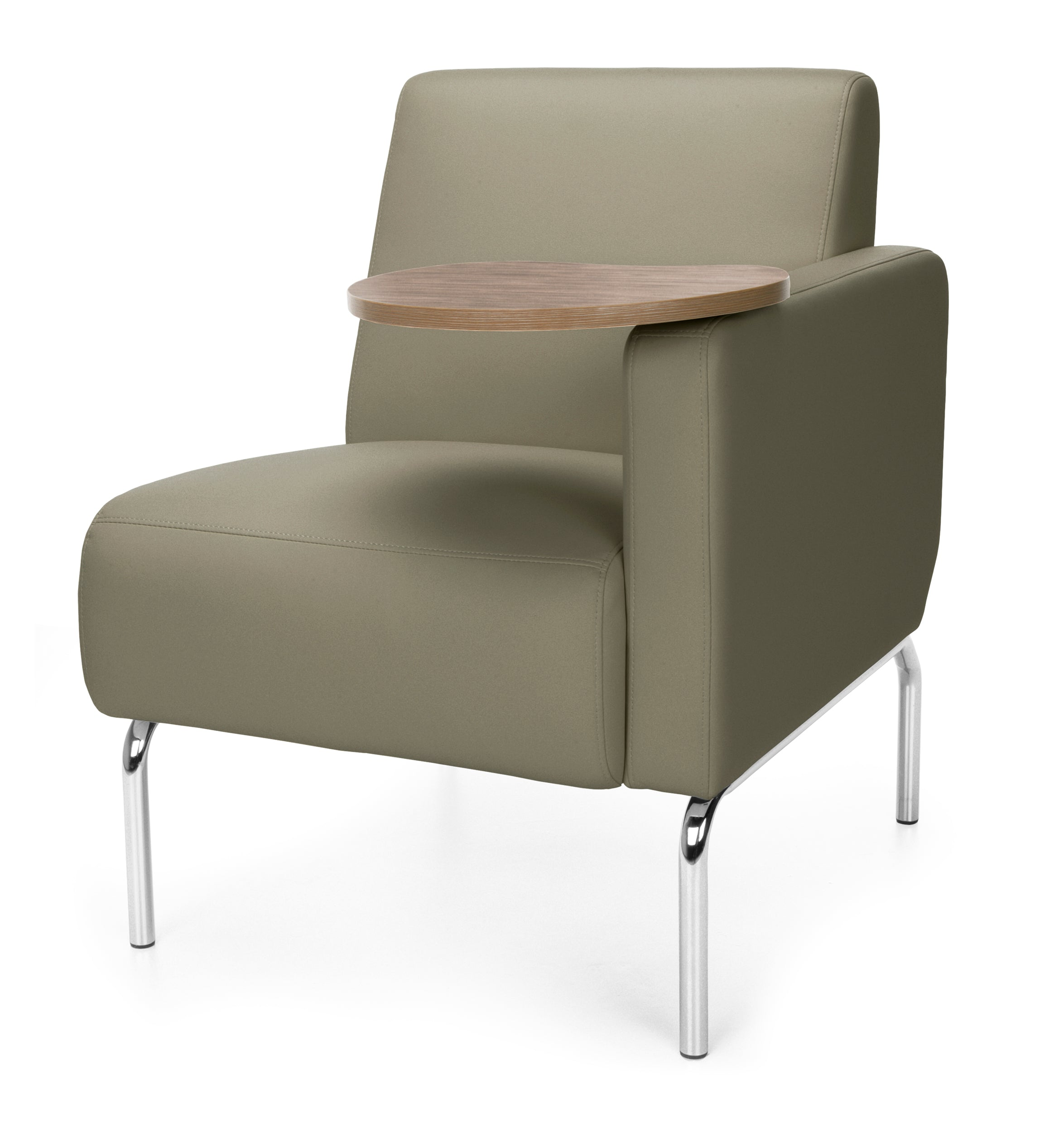 Triumph Series TAUPE Pu Back Seat Left Arm Tablet Modular Lounge Chair