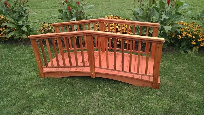 Outdoor Garden Furniture Baluster Bridge Made In USA