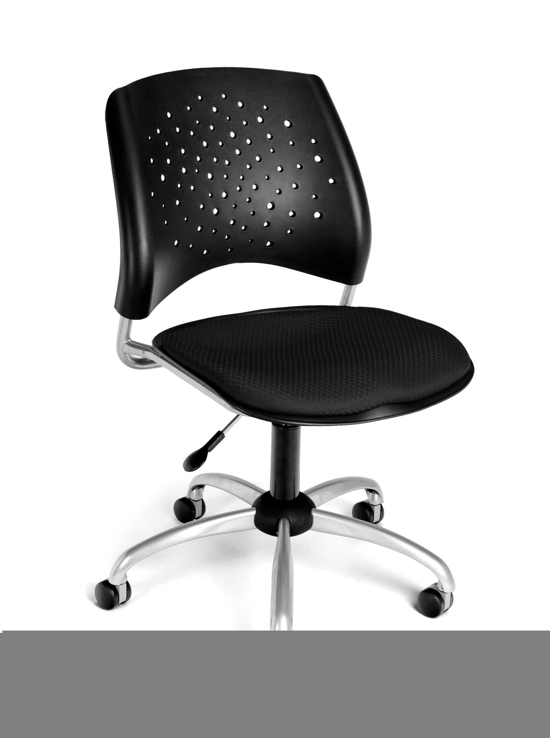 Ofminc Model 326 Stars Series Armless Fabric Swivel Chair