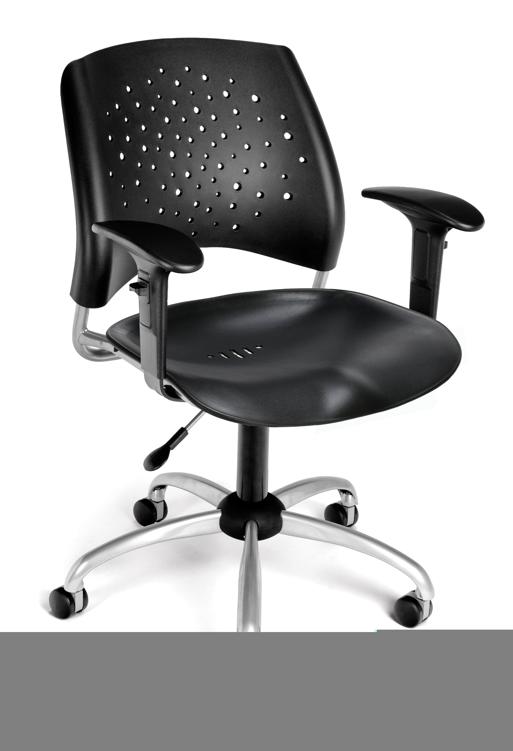 Ofminc Model 326-P-AA3 Stars Series Plastic Swivel Arms Chair