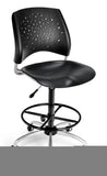326-P-DK Stars Series Armless Plastic Swivel Chair with Drafting Kit