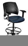 Model 326-V-AA3DK Stars Series Vinyl Swivel Drafting Kit Arms Chair