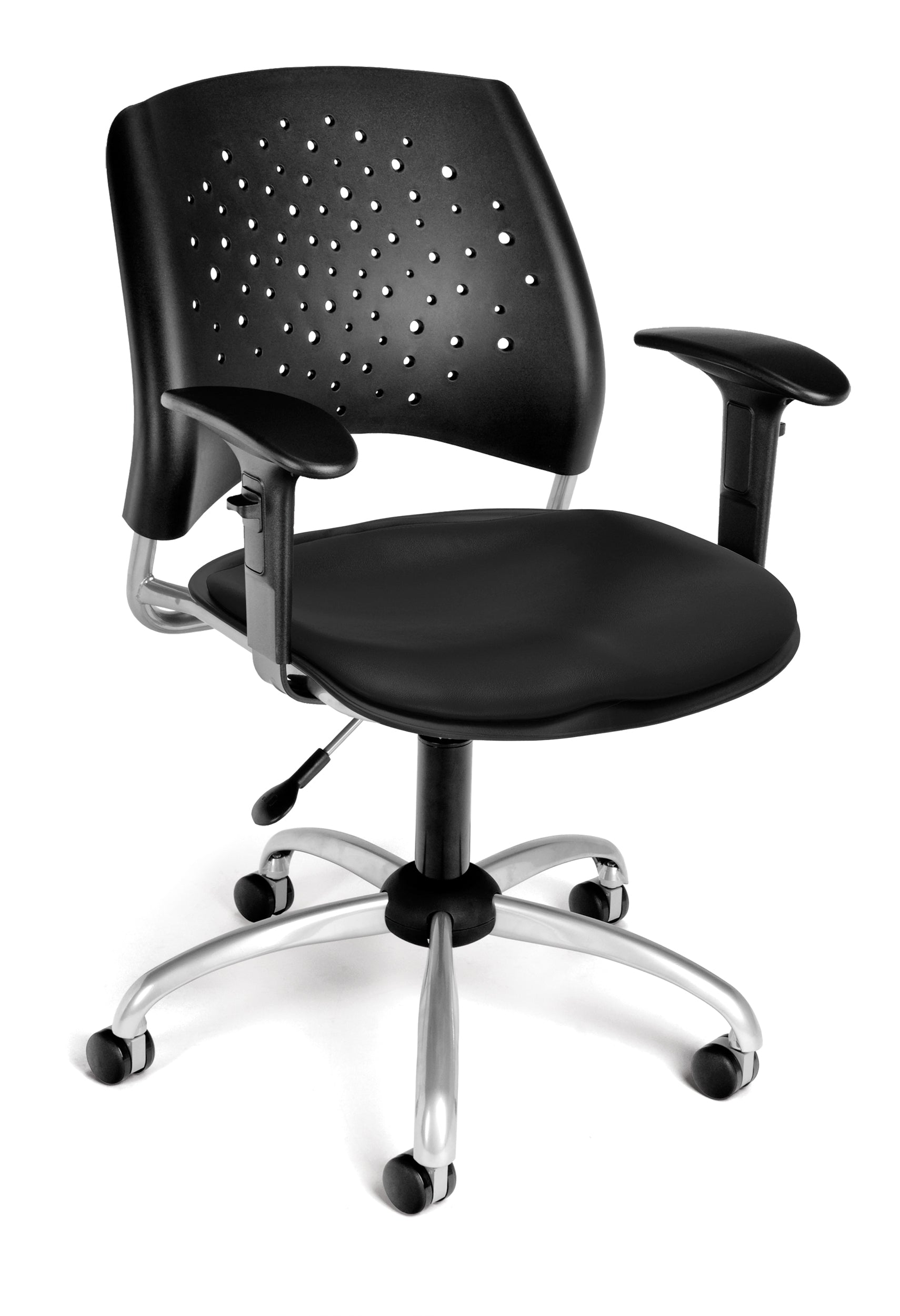 Ofminc Model 326-VAM-AA3 Stars Series Vinyl Swivel Arms Chair