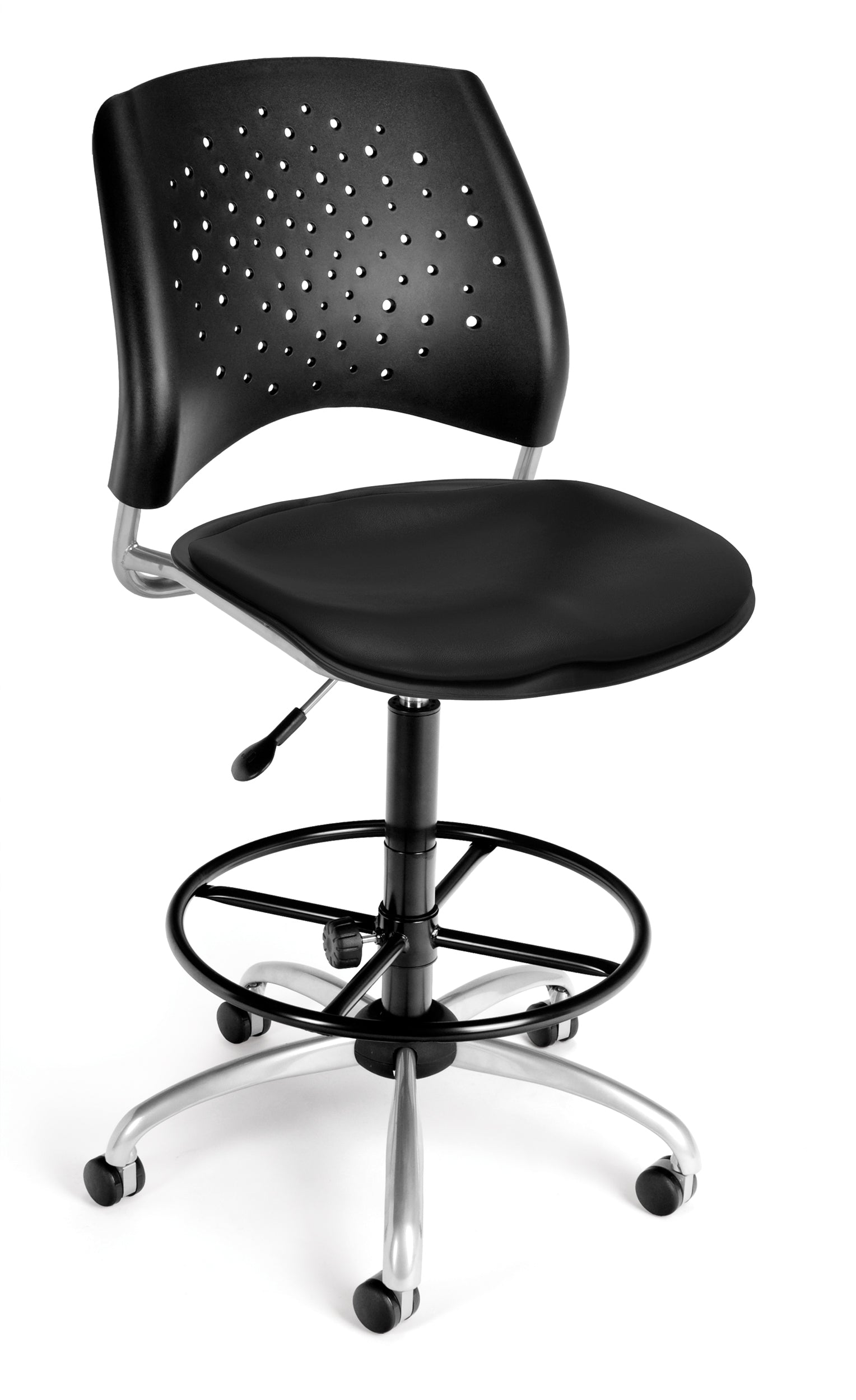 Model 326-VAM-DK Stars Series Armless Vinyl Swivel Drafting Kit Chair
