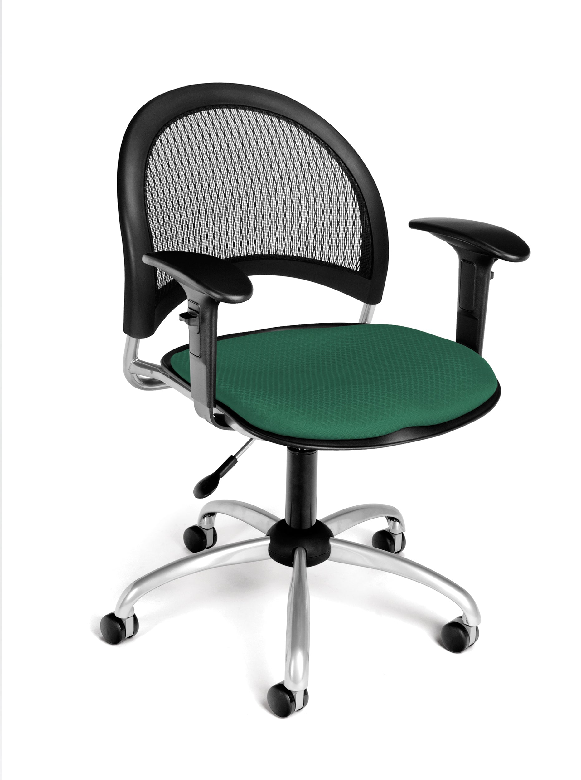 Ofminc Model 336-AA3 Moon Series Fabric Swivel Arms Chair
