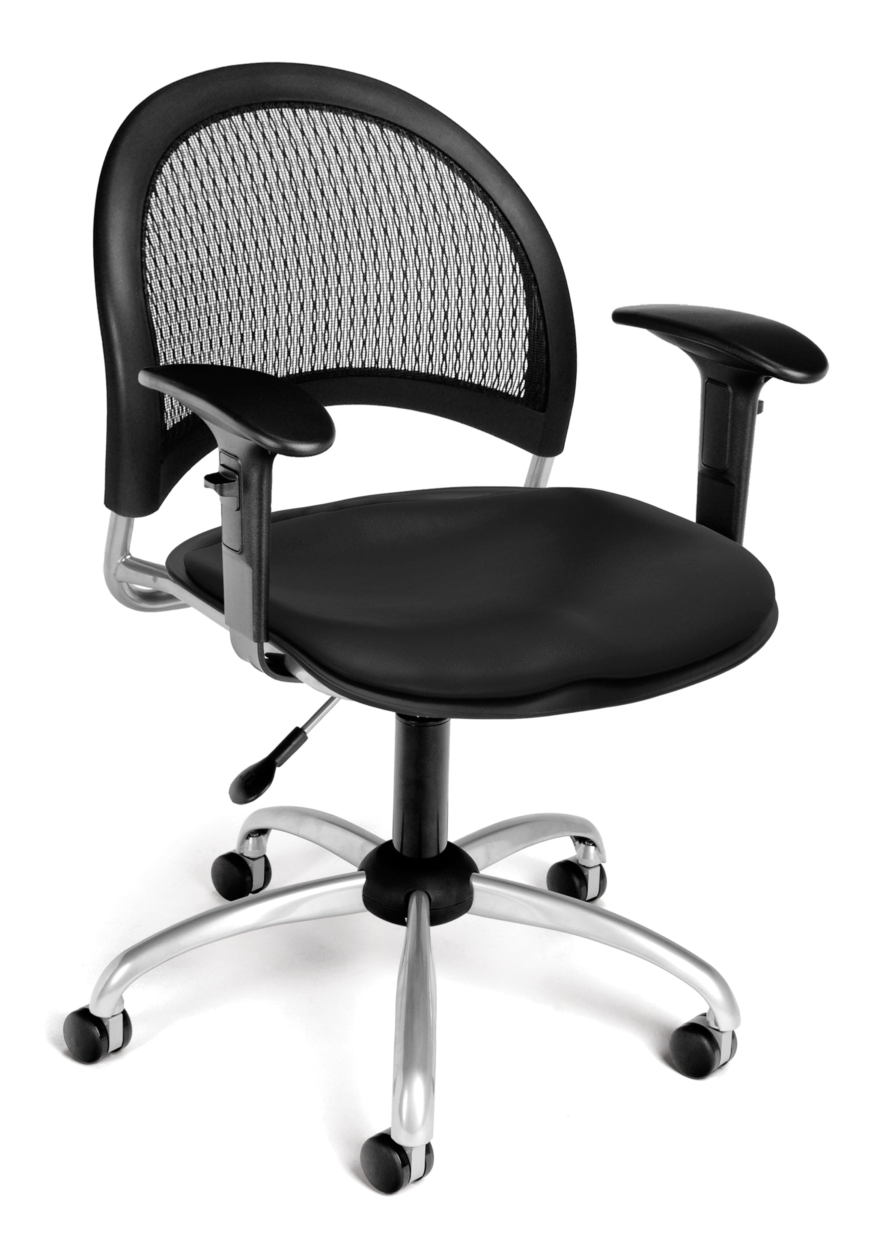 Ofminc Model 336-VAM-AA3 Moon Series Vinyl Swivel Arms Chair