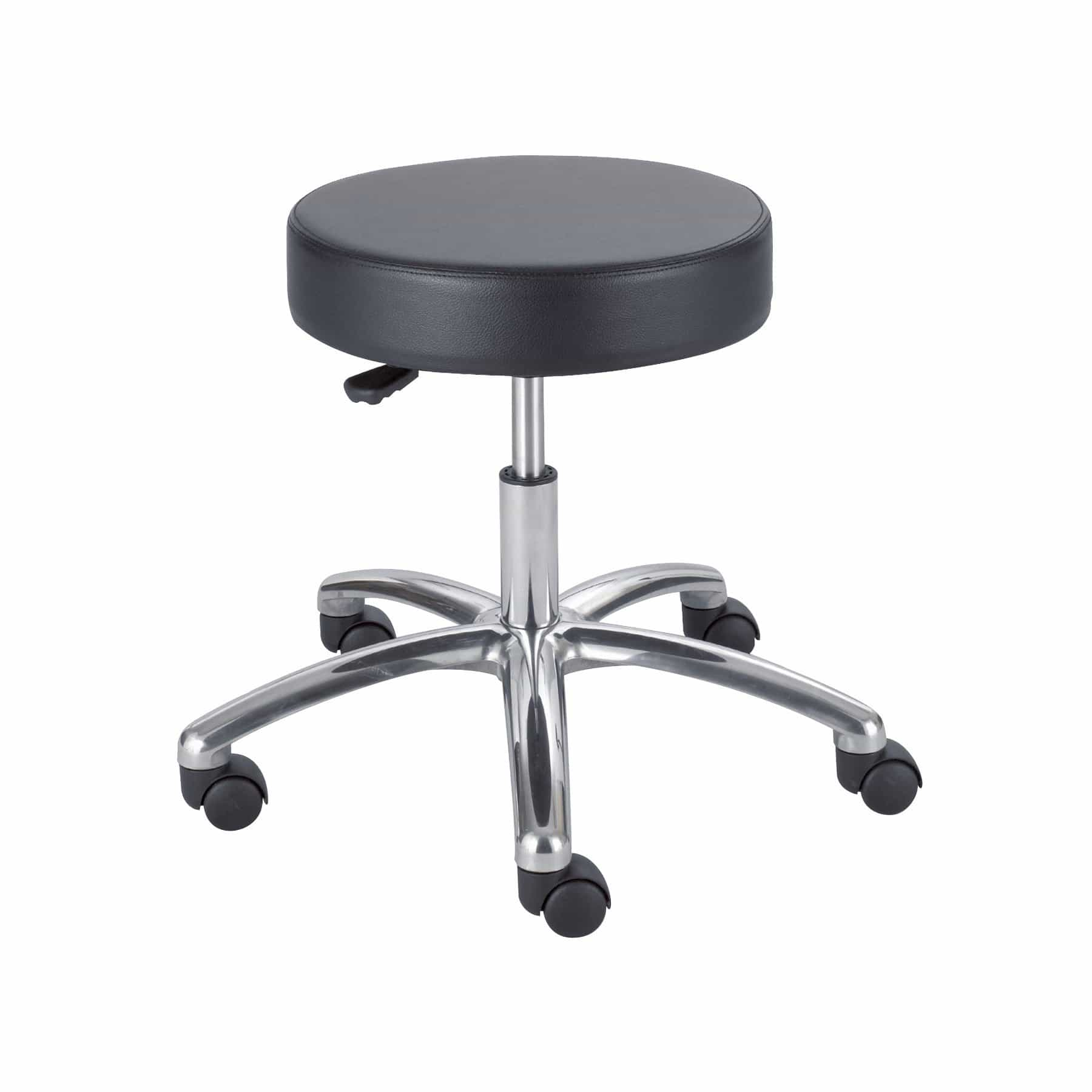 bedinhome - 3431BL Comfortable 250 lbs Weight Capacity Seat Height Adjustment Swivel Black Rolling Lab Stool With Pneumatic lift - Safco - Rolling Lab Stool