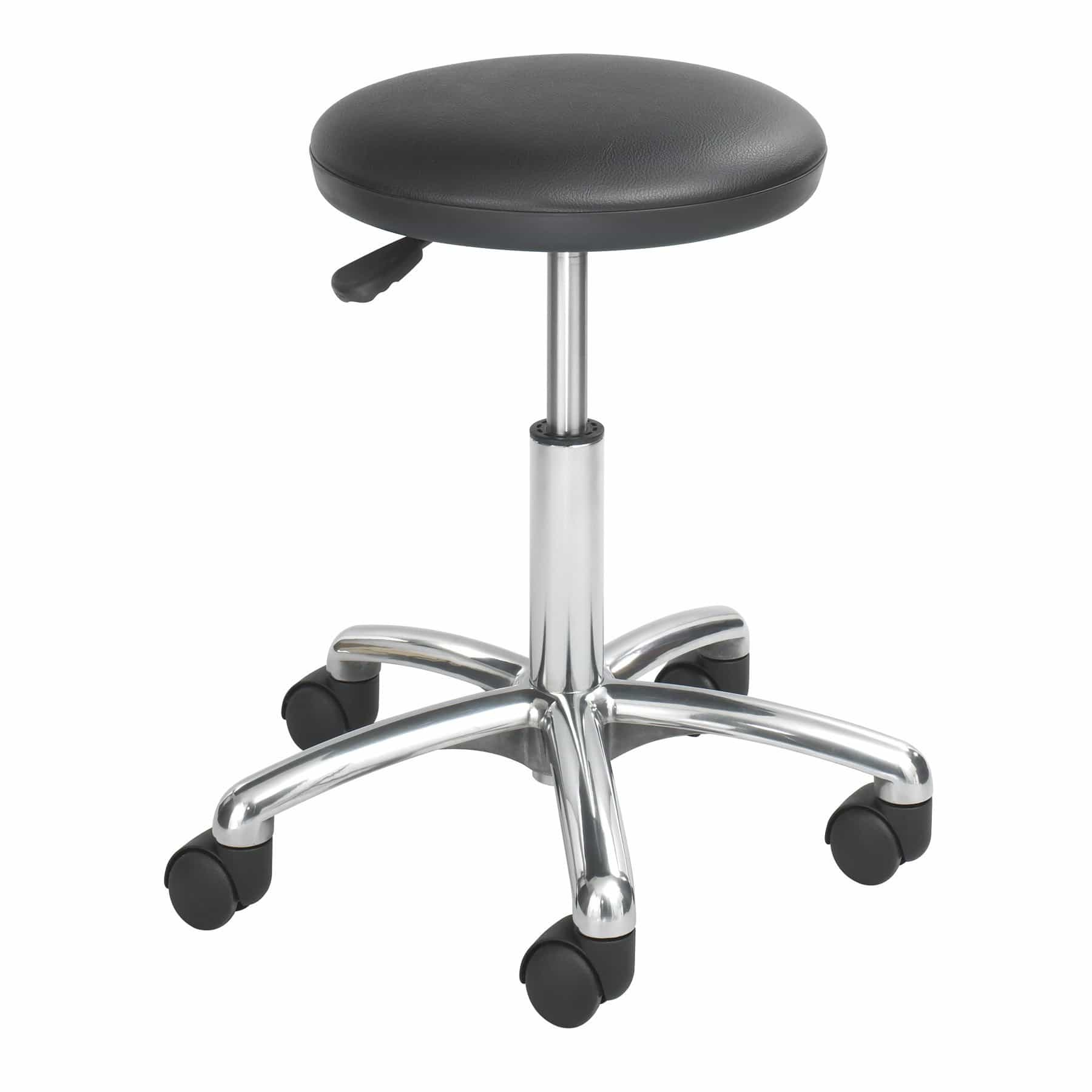 bedinhome - 3434BL Seat Height Adjustment Swivel 5-inch Pneumatic lift Economy Lab Black Rolling Stool With 2 Inch Swivel Casters - Safco - Lab Stool