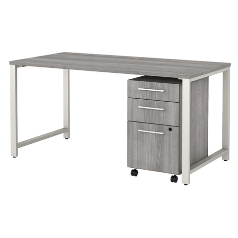 400 Series Table Desk with 3 Drawer Mobile File Cabinet
