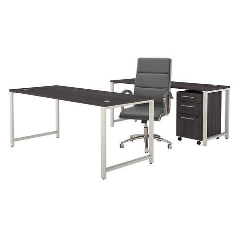 400 Series 72W Table Desk Set with Office Chair & Mobile File Cabinet