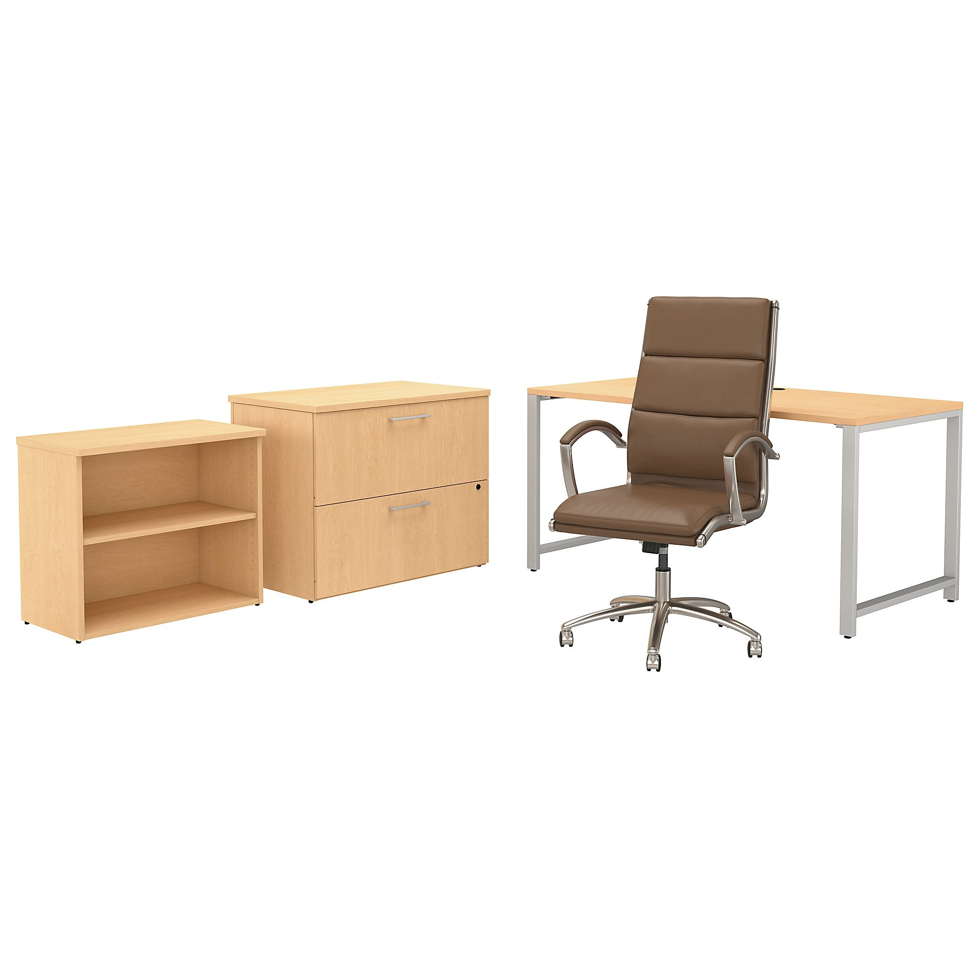 400 Series 60W x 30D Table Desk & Chair Set with Storage