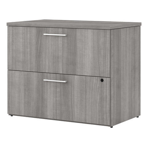 400 Series 36W 2 Drawer Lateral File Cabinet -Platinum Gray