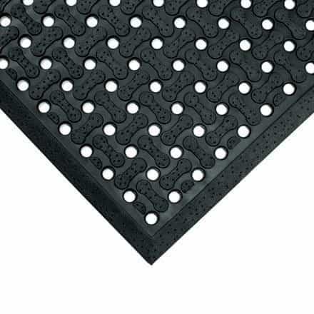 bedinhome - Grease Resistant Light Weight 3 Inch x 5 Inch Black Anti-Slip Drainage Mat- 1 Each - UNBRANDED - Anti-Slip Drainage Mat