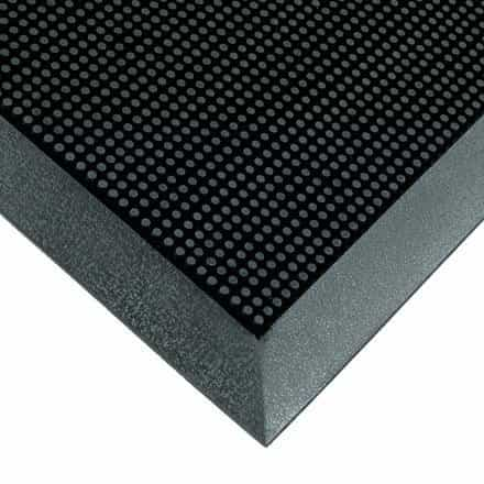 bedinhome - 5/8 Inch Thickness Black Flexible Rubberized Entry Mat- 1 Each - UNBRANDED - Rubberized Entry Mats