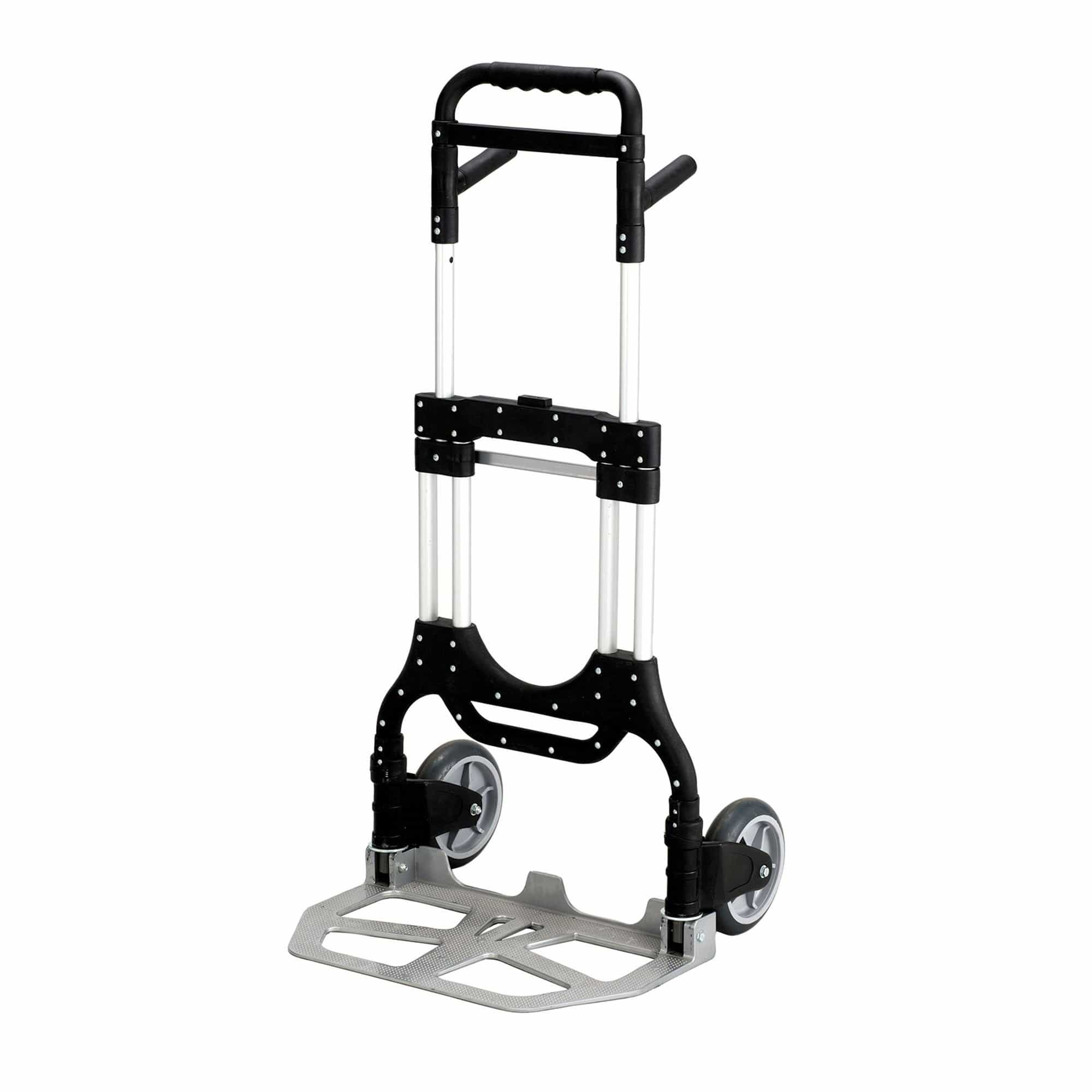 bedinhome - 4055NC STOW AWAY Heavy Duty black lightweight aluminum frame folding dolly Hand Truck - Safco - Folding Hand Trucks