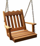 2 Ft Royal English Cedar Handcrafted Patio Porch Outdoor Garden Chair Swing Made In USA