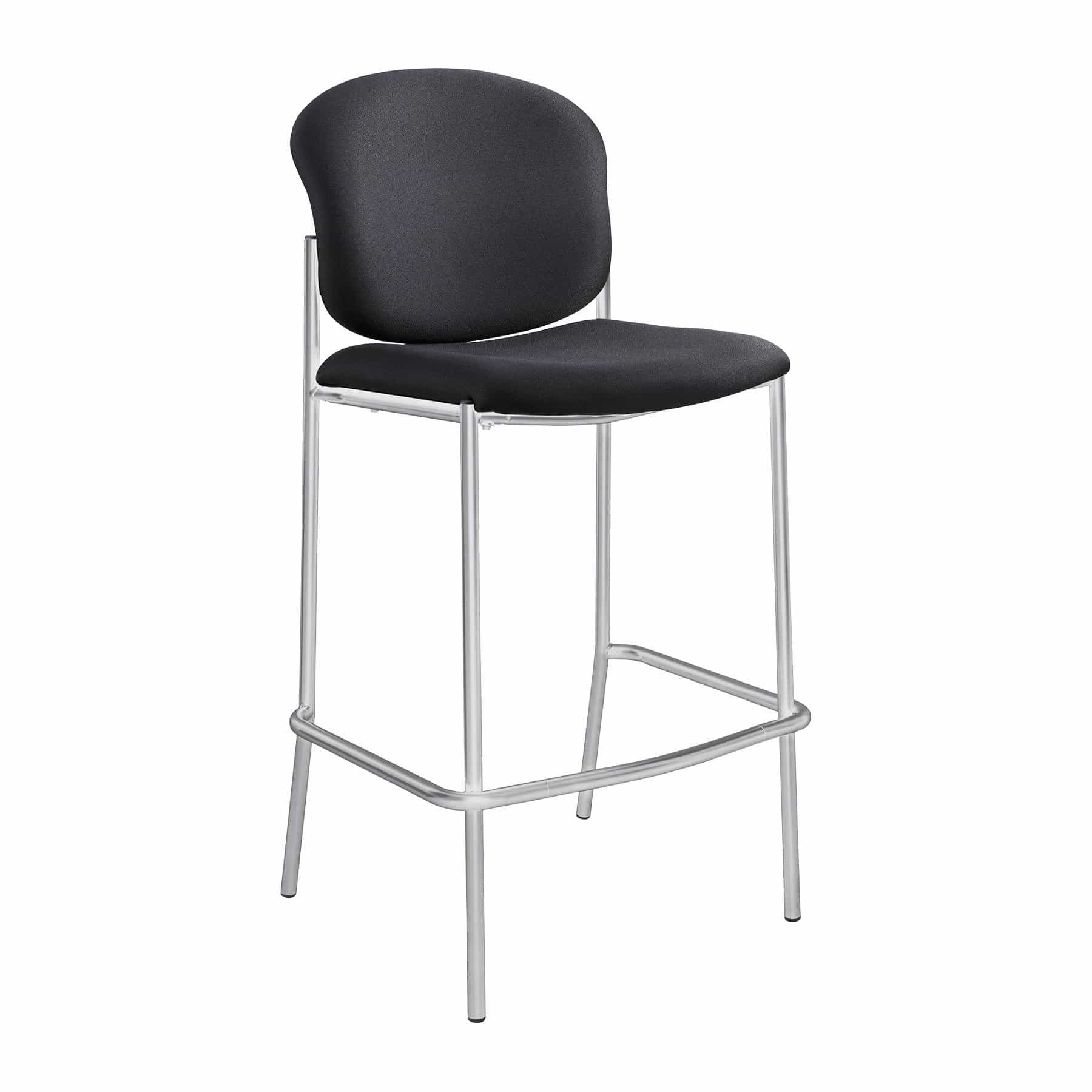 bedinhome - 4195BL Black Diaz seat & back silver powder coat finish frame Bistro-Height Chair - Safco - Extended/Counter Hght Seating