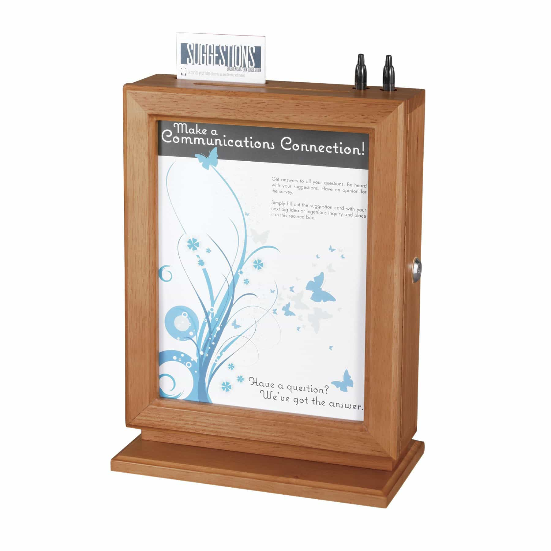 bedinhome - Safco Wall mountable Customizable Wood / Plexiglass Suggestion drop Box - Safco - Suggestion Box