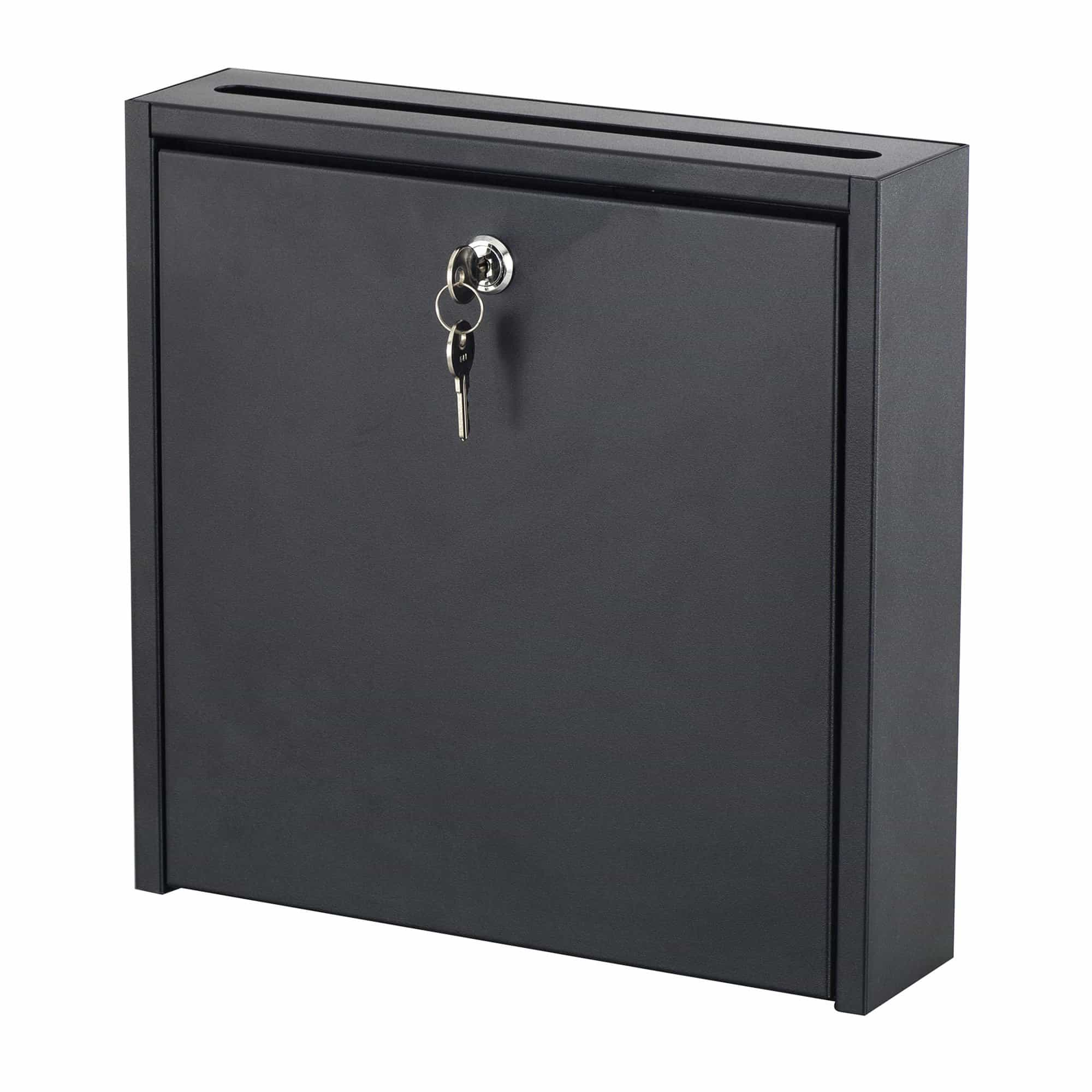 bedinhome - 4258BL locking Wall-Mounted Solid steel Interoffice drop Mailbox Included Two keys - Safco - Suggestion Box