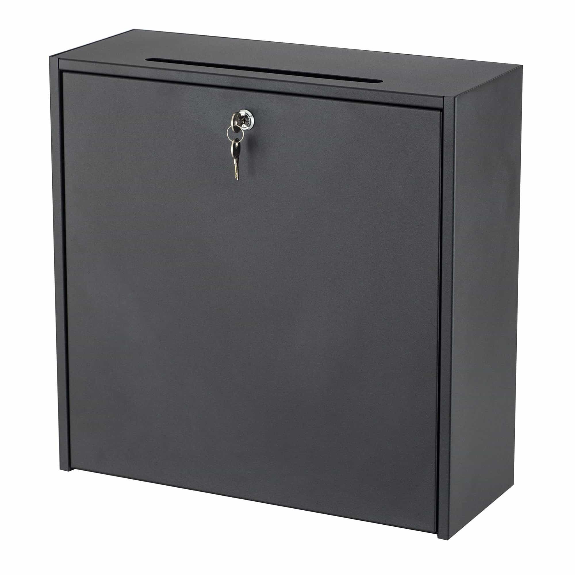 bedinhome - 4259BL locking Wall-Mounted Solid steel Interoffice drop Mailbox Included Two keys - Safco - Suggestion Box